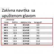 Zakivna-Blind navrtka-konusna  Fe