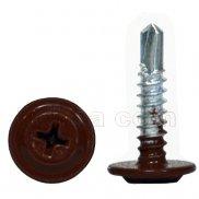 Šrafovi RAL-8019 za lim sa širokom glavom