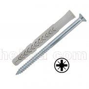 X3 dugački nylon tipl sa šrafom/upuštena glava PZ-prihvat