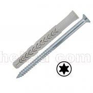 X3 dugački nylon tipl sa šrafom/upuštena glava TORX-prihvat